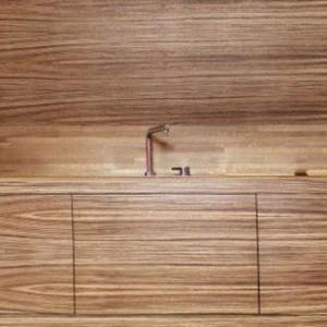 cuisine mobile en zébrano - mobilier design contemporain, Thierry VAUDOUR - achat vente