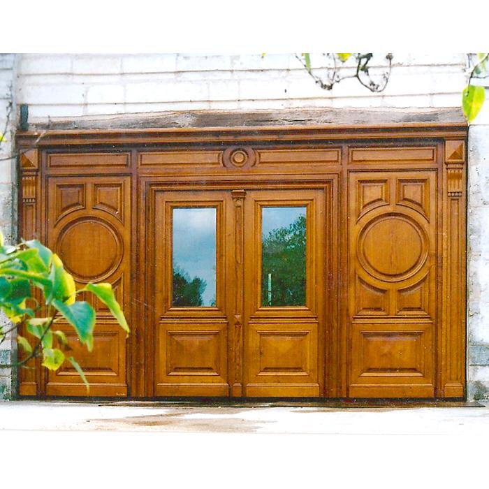 Grandes portes en bois massif - menuiserie ébénisterie