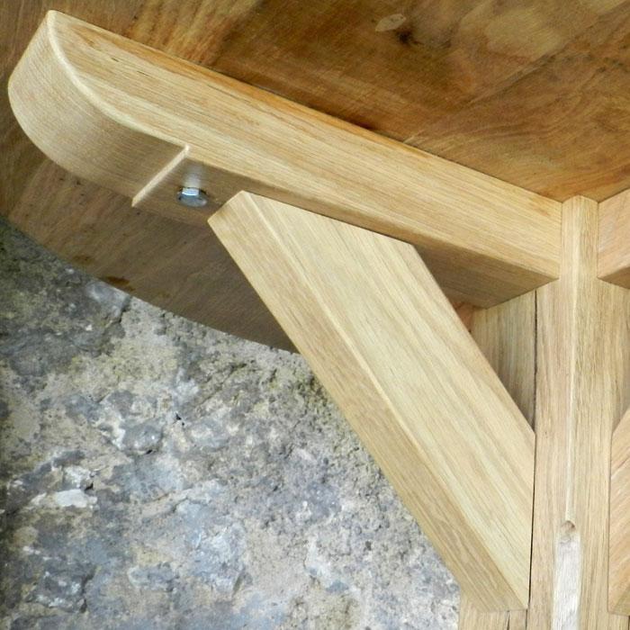 table bistrot en bois massif