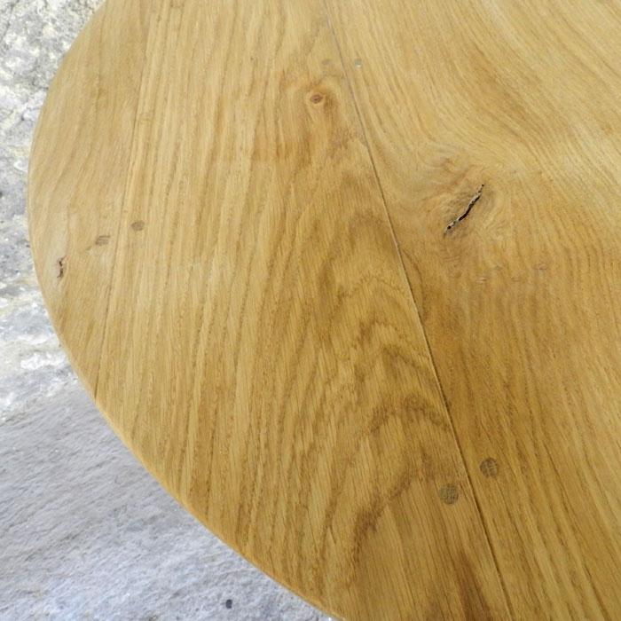 bois massif table ronde et haute , mobilier contemporain