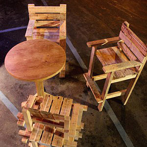 salon exterieur bois