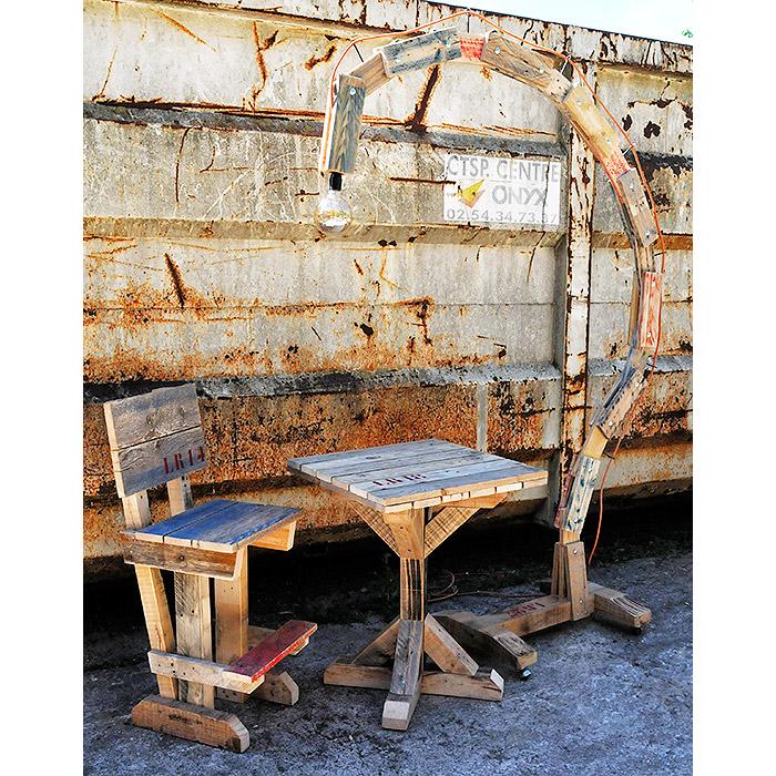 formation la recyclerie de vend me par thierry vaudour mobilier en palette recycl e cr ation. Black Bedroom Furniture Sets. Home Design Ideas