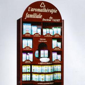 cosbionat mobilier étagère aromathérapie du Dr Valnet
