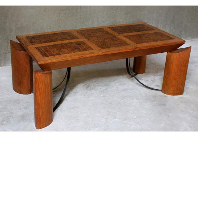 table en bois debout et piètement métal - achat vente mobilier contemporain