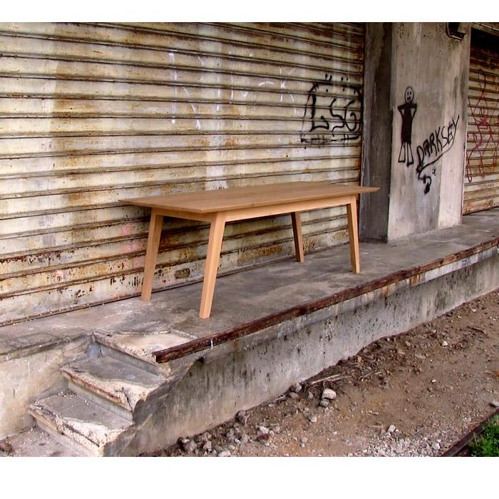 table en chêne massif longue, mobilier contemporain