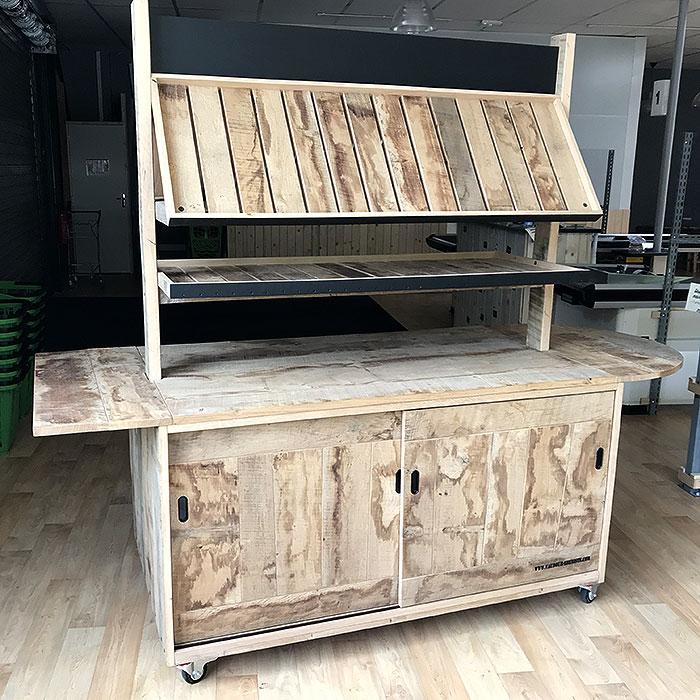 meuble mobile bois brut naveil Bio du coin